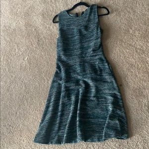LOFT Blue knit sleeveless dress. Swing, worn once